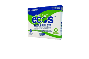 Once-A-Day Ecos Bowie-Dick Test Packs — Box of 30